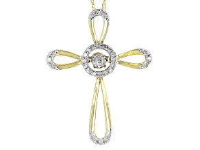 Diamond 10k Yellow Gold Pendant .10ctw