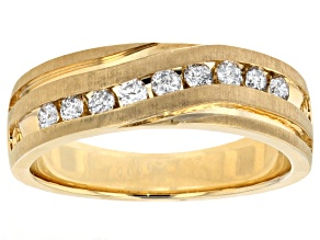Diamond 10k Yellow Gold Gents Ring .50ctw