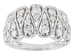 Diamond 10k White Gold Ring 1.00ctw