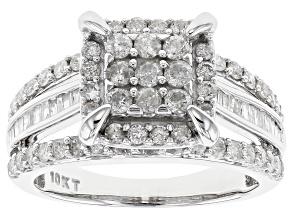Diamond 10k White Gold Ring 1.30ctw