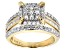 White Diamond 10k Yellow Gold Ring 1.30ctw
