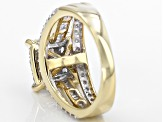 White Diamond 10k Yellow Gold Ring 1.30ctw