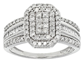Diamond 10k White Gold Ring .73ctw