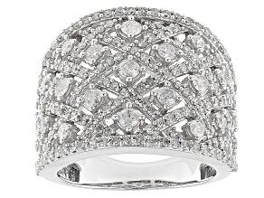 Diamond 10k White Gold Ring 2.00ctw