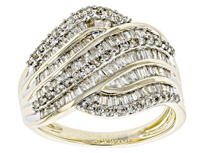 Diamond 10k Yellow Gold Ring 1.16ctw