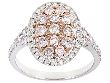 Picture of Natural Pink And White Diamond 14k Rose And White Gold Ring 1.10ctw