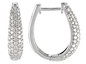 Diamond 10k White Gold Earrings 1.40ctw