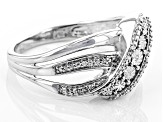 Diamond Accent Rhodium Over Sterling Silver Ring .01ctw