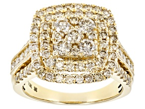 Candlelight Diamond 10k Yellow Gold Ring 2.00ctw