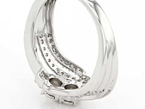 White Diamond 10k White Gold Ring .50ctw