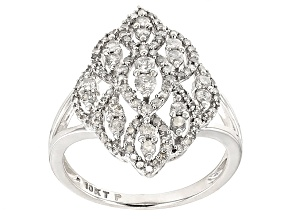 White Diamond 10k White Gold Ring .73ctw
