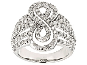 White Diamond 10k White Gold Ring 1.55ctw