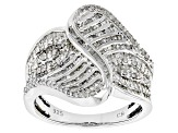 White Diamond Rhodium Over Sterling Silver 1.00ctw