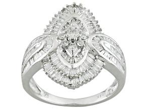 White Diamond 14k White Gold Ring 1.00ctw