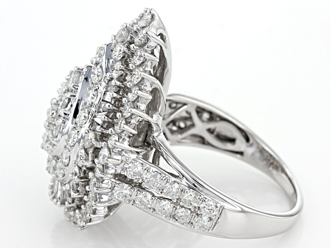 White Diamond 14k White Gold Ring 3.00ctw