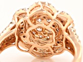 Natural Pink And White Diamond 14k Rose Gold Ring 1.05ctw