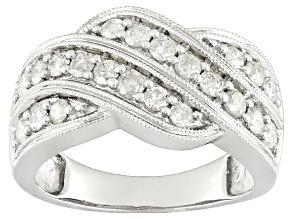 White Diamond 10k White Gold Ring .90ctw