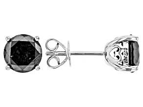 Black Diamond Rhodium Over Sterling Silver Earrings 3.00ctw