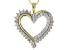 White Diamond 10k Yellow Gold Pendant .50ctw