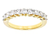 White Diamond 14k Yellow Gold Ring With Matching Bands 3.50ctw