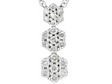 White Diamond Rhodium Over Sterling Silver Pendant .25ctw