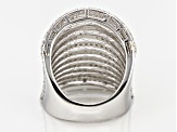 White Diamond Rhodium Over Sterling Silver Ring 1.14ctw