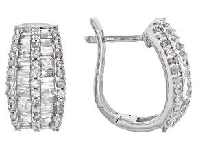 White Diamond 10k White Gold Earrings 1.00ctw