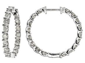 White Diamond 10k White Gold Earrings 2.50ctw