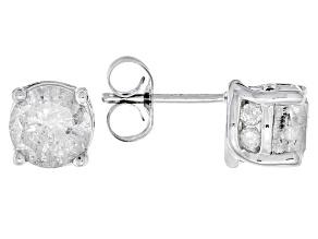White Diamond 14k White Gold Earrings 2.00ctw