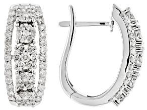 1.65ctw Round White Diamond 10k White Gold Earrings