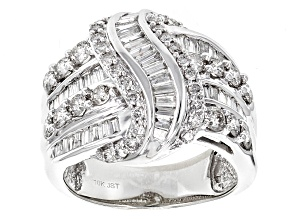 White Diamond 10k White Gold Ring 1.90ctw