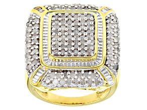 Diamond 14k Yellow Gold Over Brass Ring 2.00ctw