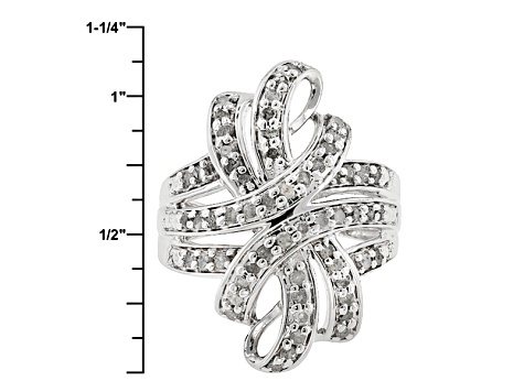 Diamond Rhodium Over Brass Ring 1.00ctw