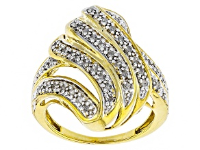 Diamond 14k Gold Over Brass Ring .50ctw