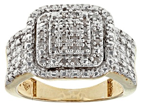 Diamond 18k Yellow Gold Over Brass Ring .25ctw