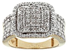 Diamond 18k Yellow Gold Over Brass Ring .25ctw