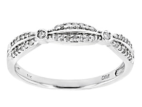 White Diamond 10k White Gold Ring .13ctw