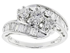 White Diamond 10k White Gold Ring 1.25ctw