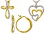 White Diamond 14k Yellow Gold And Rhodium Over Brass Jewelry Set Diamond Accent
