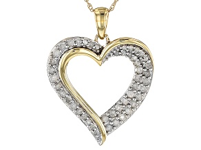 White Diamond 10k Yellow Gold Pendant .50ctw