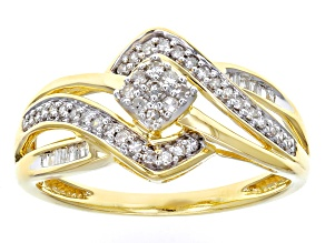 Diamond 10k Yellow Gold Ring .25ctw