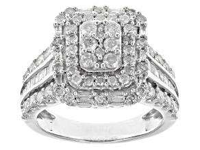 White Diamond 10k White Gold Ring 1.90ctw