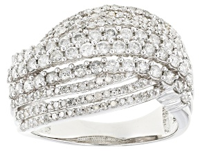 White Diamond 10k White Gold Ring 1.42ctw