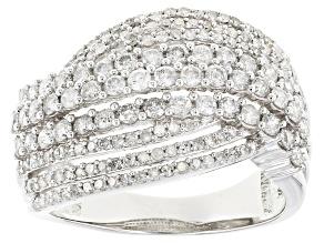 White Diamond 10k White Gold Ring 1.42ctw