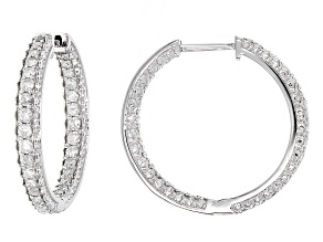 White Diamond 10k White Gold Earrings 1.20ctw