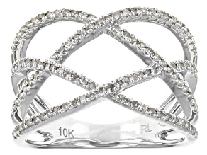 White Diamond 10k White Gold Ring .32ctw