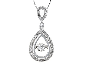 White Diamond 10k White Gold Pendant .33ctw