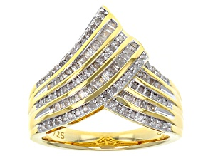 White Diamond 14k Yellow Gold Over Sterling Silver Ring .50ctw