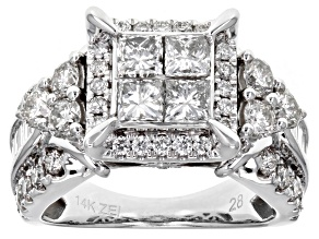 White Diamond 14k White Gold Ring 2.95ctw