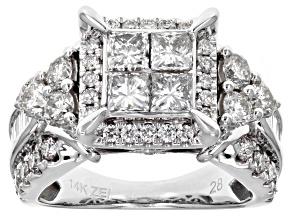 White Diamond 14k White Gold Ring 2.95ctw